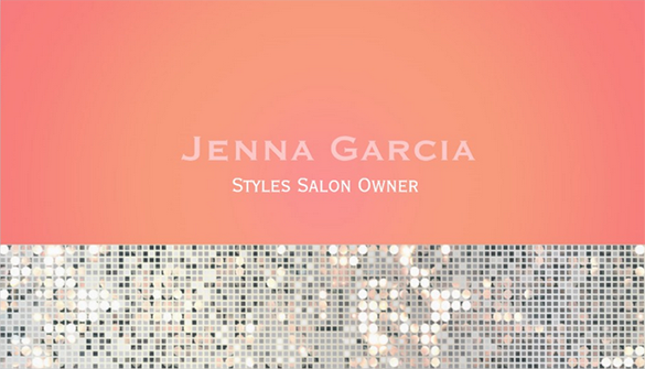 beautiful saloon owner orange business card