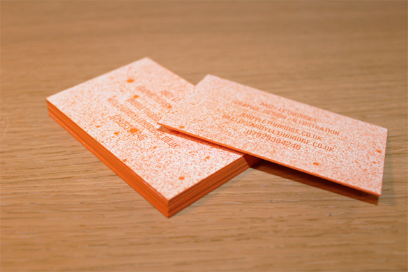 graphic artist orange business card