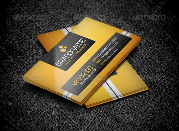 modern orange business card premium download