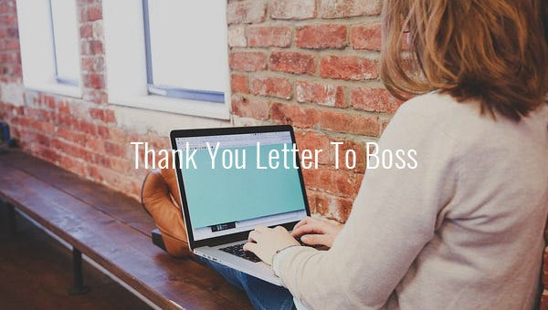 thank you letter to bosss