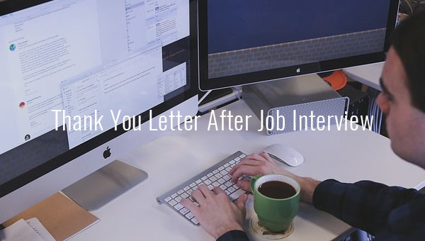 thank you letter after job interviews