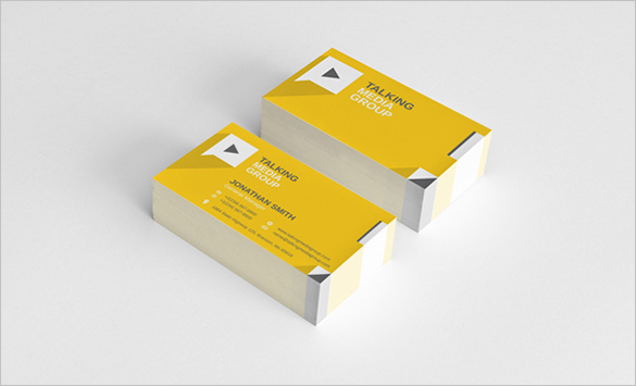 flat corporate yellow business card for you