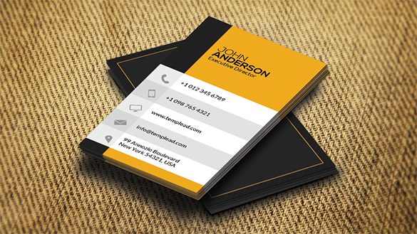 executive director yellow business card
