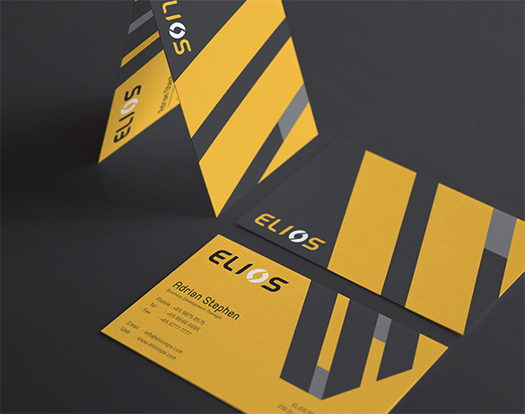 business development manager yellow business card