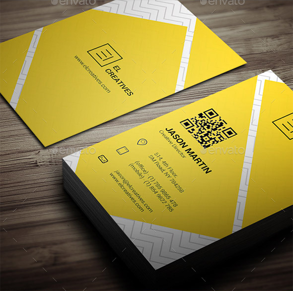 creative director yellow business card
