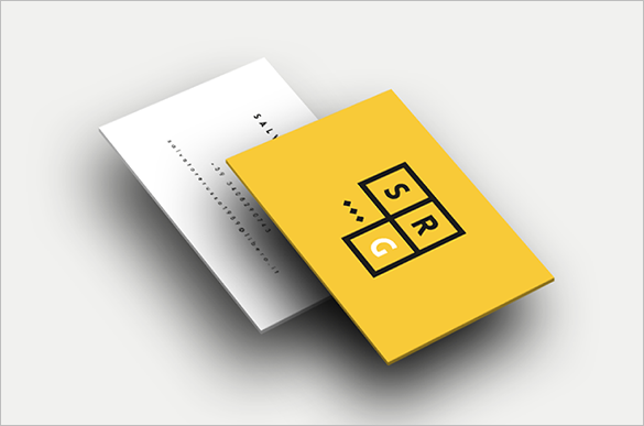 free geometra yellow business card for you