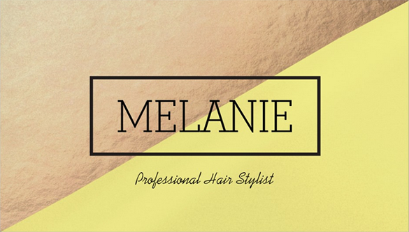 hair stylist yellow business card for you
