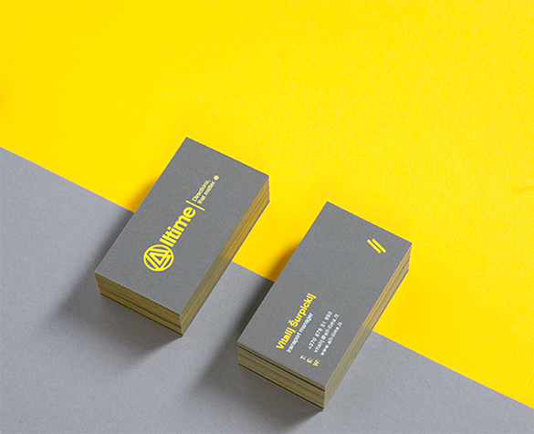 transport manager yellow business card for free