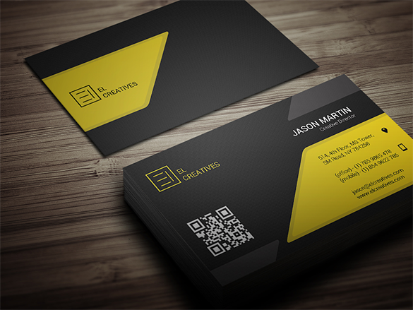 premium art director yellow business card