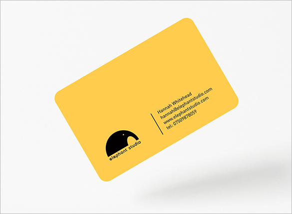 abstract yellow business card for designer