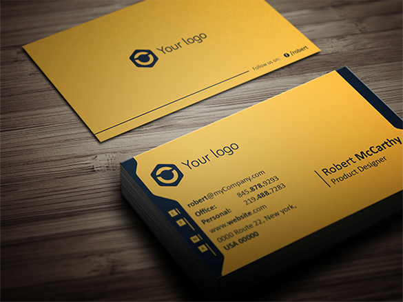 product designer yellow business card for you