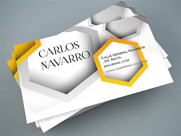 geometric yellow business card premium download