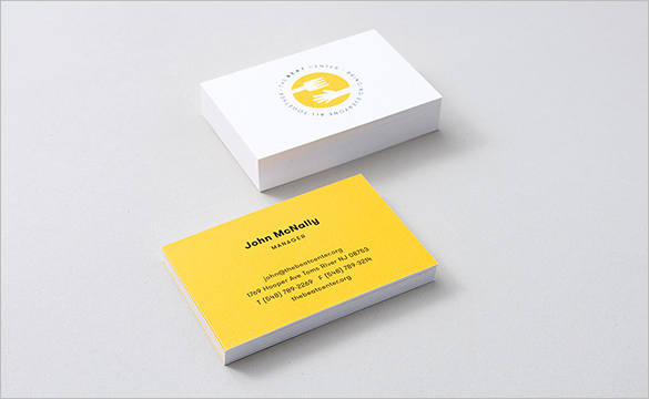 free manager yellow business card for you