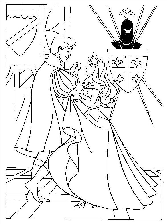 awesome printable princess colouring page