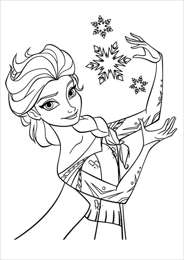 princess elsa colouring page free download