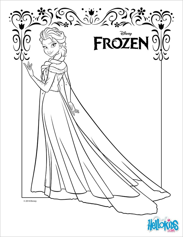 astonishing free princess colouring page