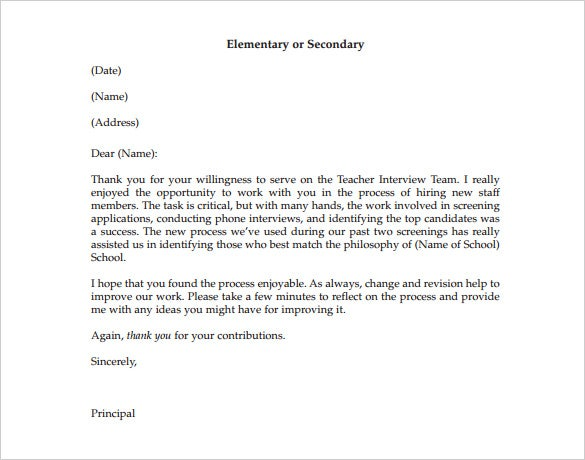 thank you letter to mentor from student pdf format