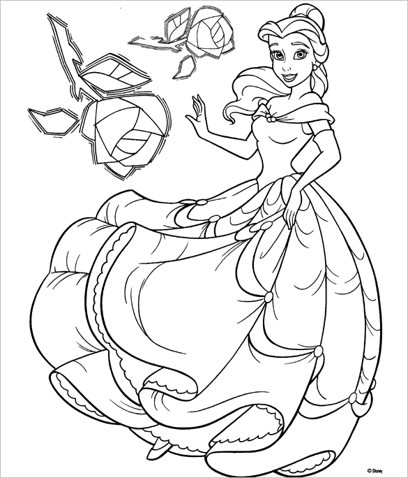 fantastic disney princess colouring page