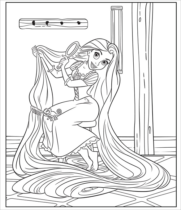 princess rapunzel colouring page for you