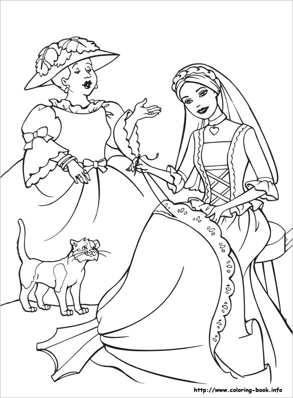 fabulous printable princess colouring page