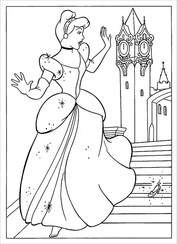 stunning disney princess coloring page for you