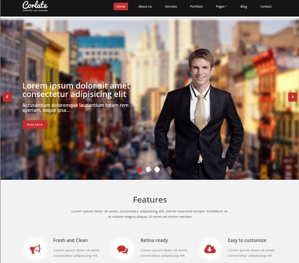 free responsive business html bootstrap template