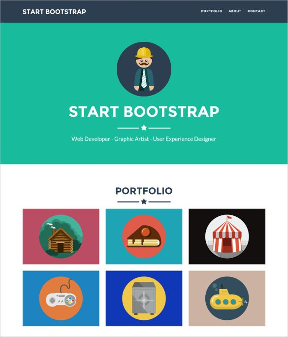 flat one page bootstrap portfolio theme free download