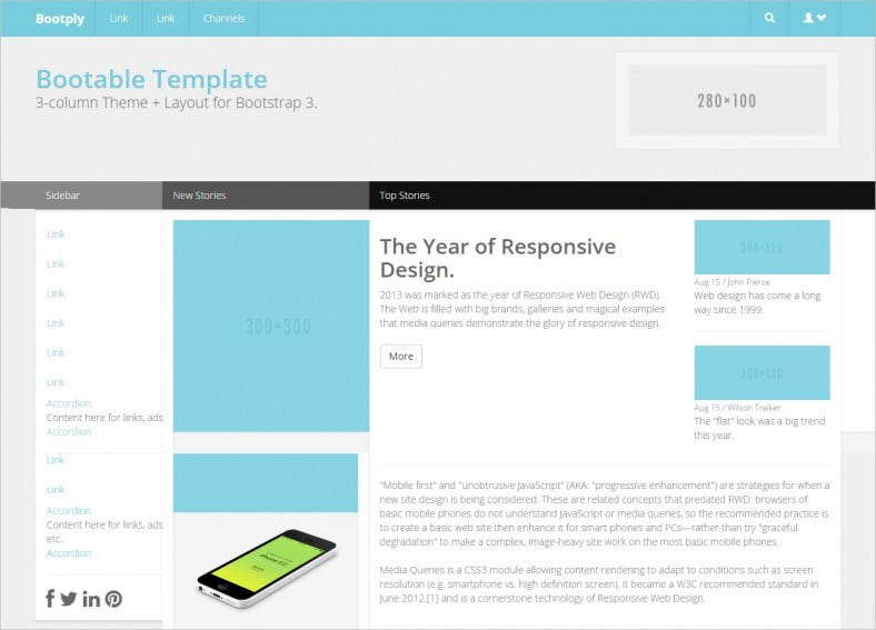 bootable bootstrap template 788x567