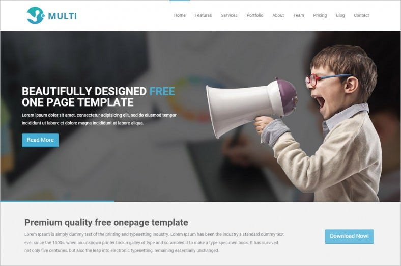 multi free responsive onepage html template 788x522