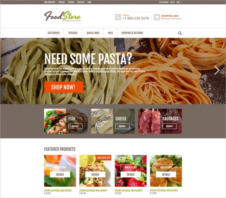 online grocery zencart template 788x691