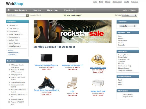 user friendly usability music store zen cart template free download