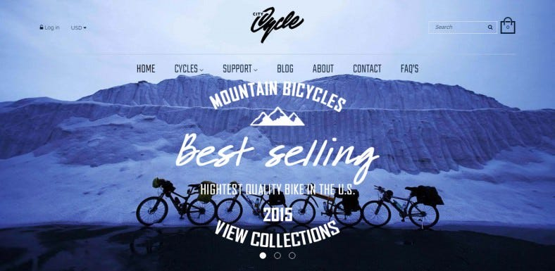 citycycle bike store responsive shopify theme 788x385