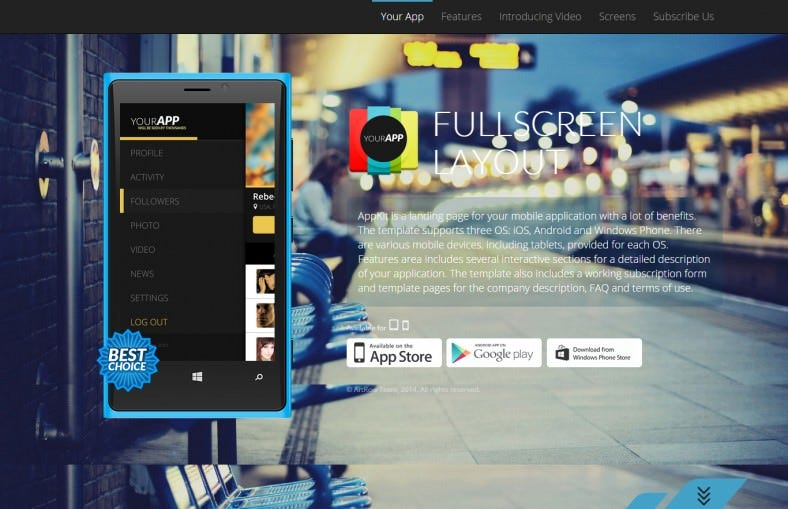 appkit landing pages for mobile app 788x509