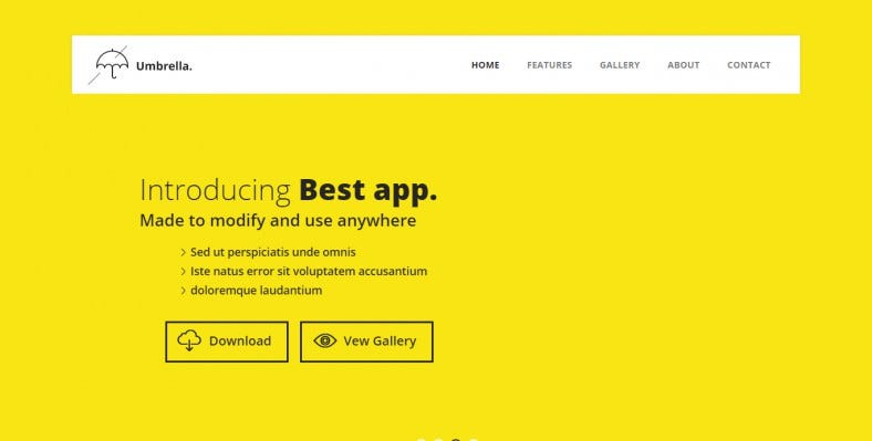 umbrella a mobile app based flat bootstrap responsive web template 788x399