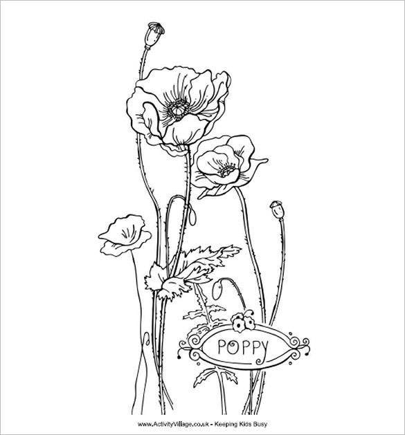 21 Poppy Coloring Pages