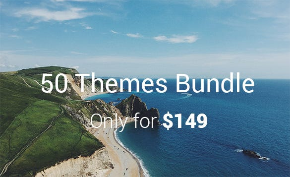 get 50 themes bundle only for 149