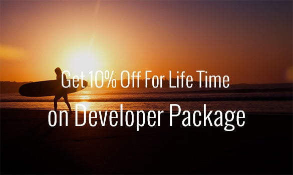get 10%25 off for life time on developer package