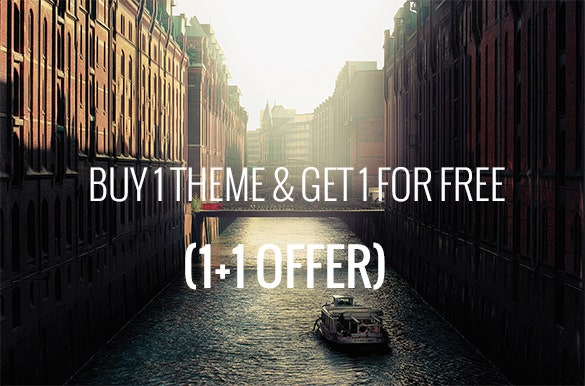 buy 1 theme get 1 for free 1 1 offer