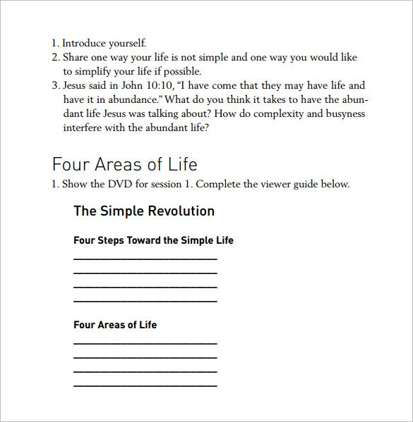 pdf of simple life action plan download