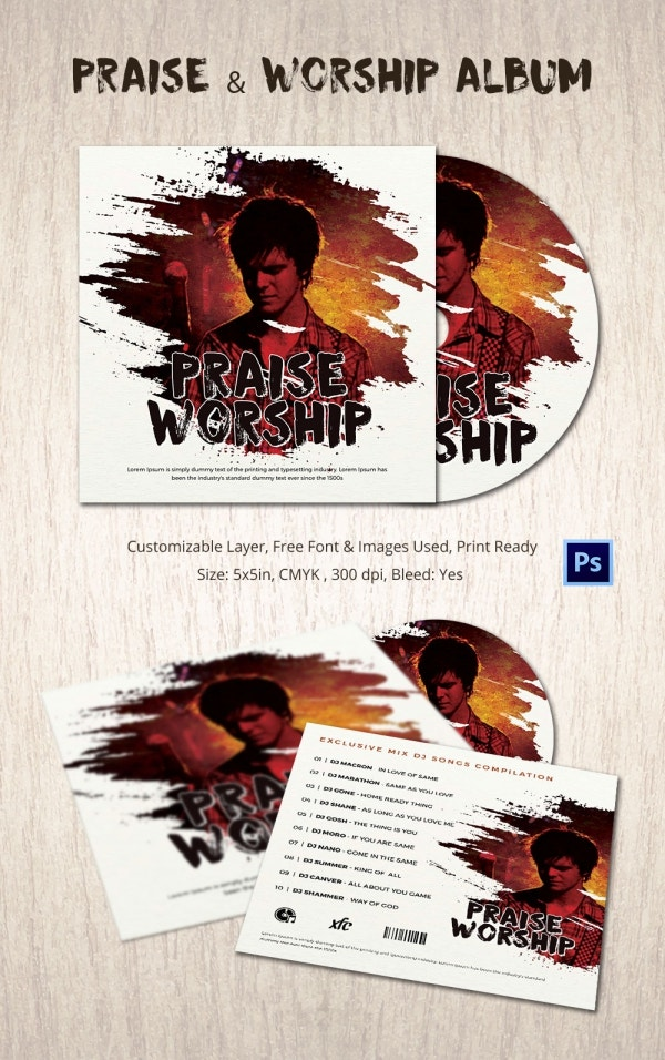 Praise & Worship – CD Album Template