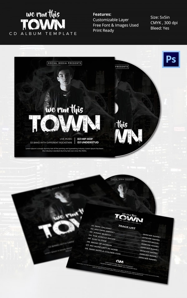 Album Cover Template   Free Psd Format Download  Free