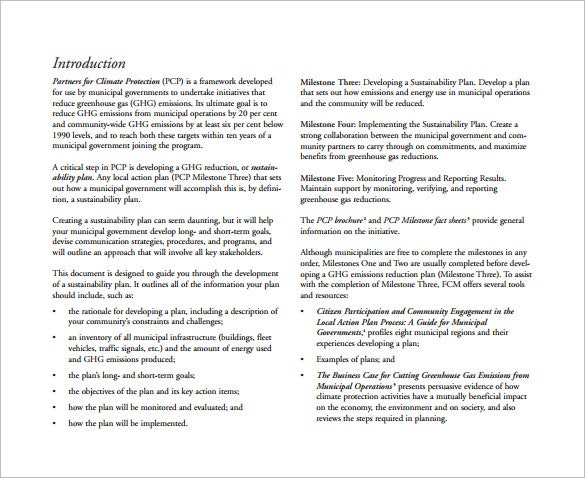 model climate change action plan pdf free download