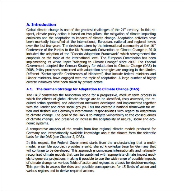 adaptation climate action plan template pdf download