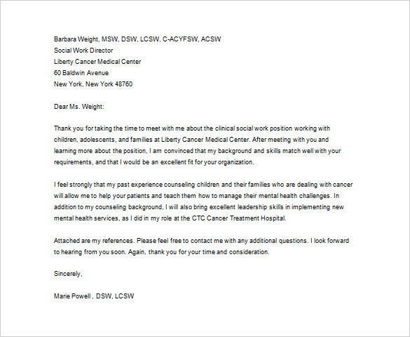 Medical Thank You Letter   Free Sample Example Format