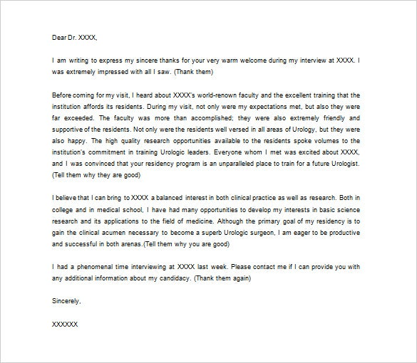 Elegant Sample Medical Thank You Letter Template U2013 Free Download