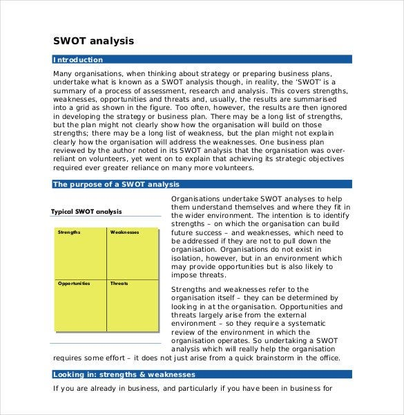 swot analysis introduction sample1