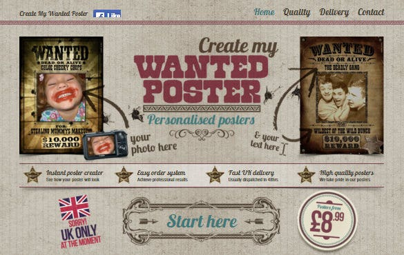 Create My Wanted Poster U2013 Free Online Maker  Create A Wanted Poster Free