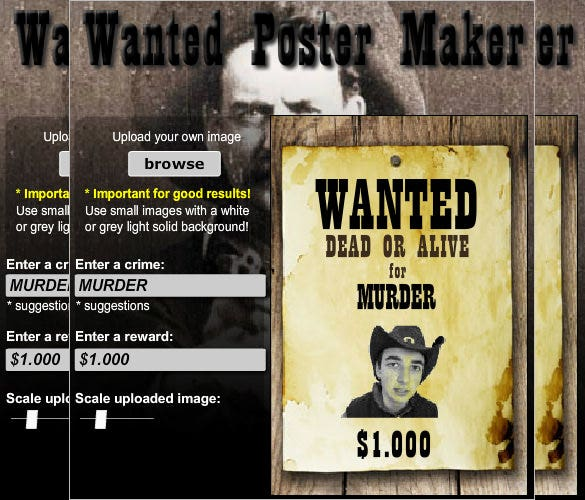 Old-Wild-Western-Wanted-Poster-Generator