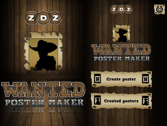 Wanted-Poster-Maker-Photo-Editor---IOS-App