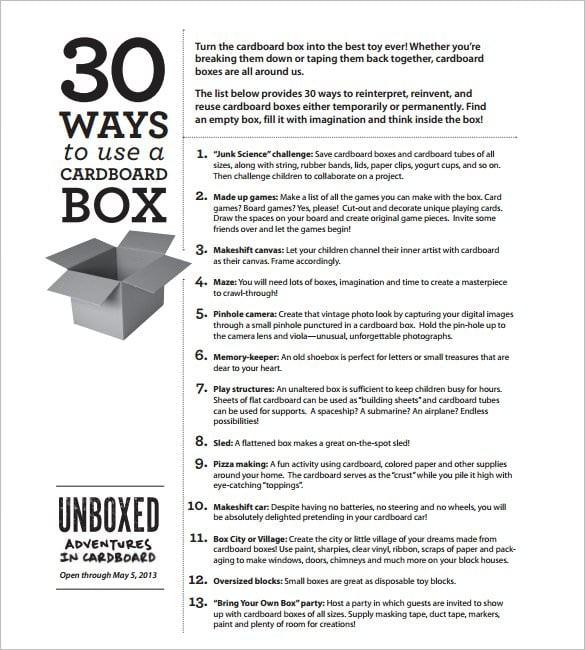 Recycled Cardboard Bo